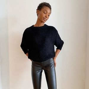 Wilfred Black Essential Chenille Sweater